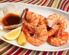 Shrimp Steamed with White Wine