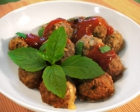 Cheese Meatball with Tomato Sauce