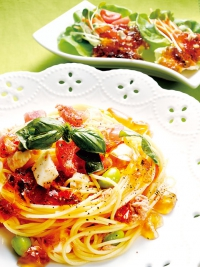 Chilled Pasta with Tomato